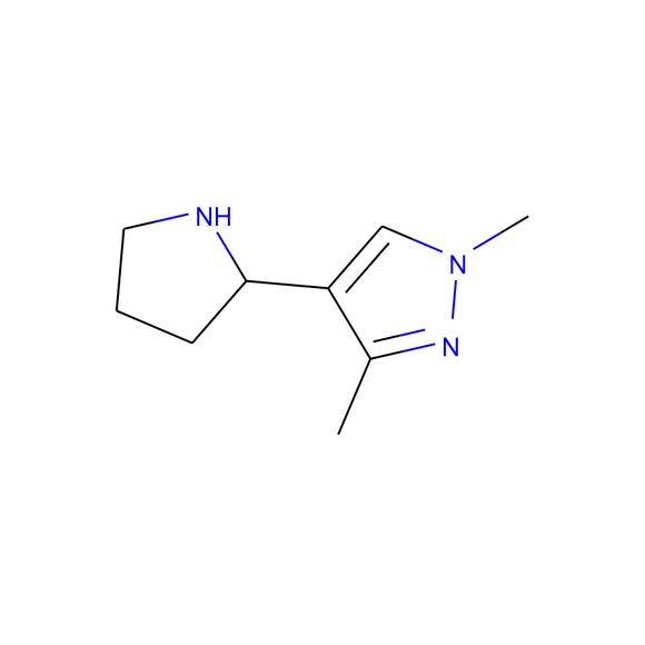 AA BLOCKS 1H-Pyrazole, 1,3-dimethyl-4-(2-pyrrolidinyl)- package