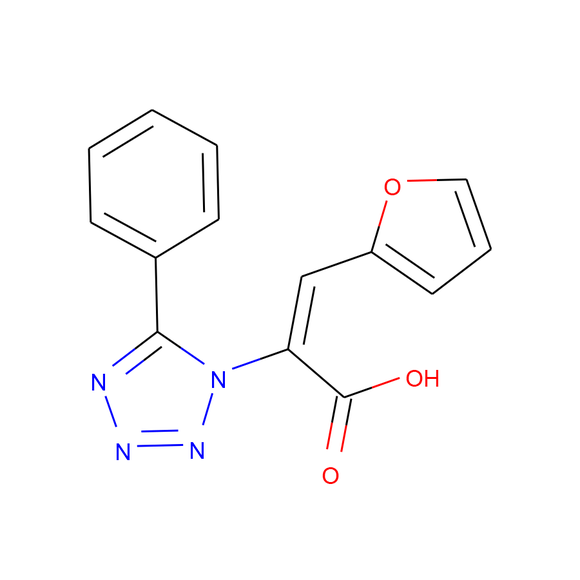AA BLOCKS 1H-Tetrazole-1-acetic acid, α-(2-furanylmethylene)-5-phenyl- package