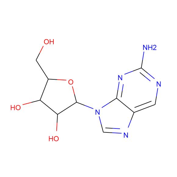 US Biological 2-Amino-9-(b-D-ribofuranosyl)purine SKU: 295144 package
