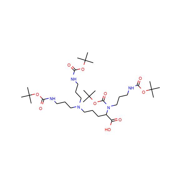 US Biological N-alpha-Boc-N-alpha,δ,δ-tris(3-Boc-aminopropyl)-L-ornithine SKU: 265926 package