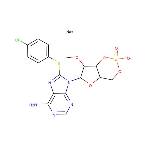 US Biological 8-(4-Chlorophenylthio)-2'-O-methyladenosine 3',5'-cyclic monophosphate sodium salt SKU: 295627 package