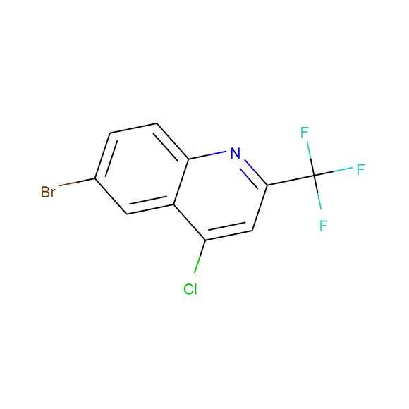 A2B Chem 6-Bromo-4-chloro-2-(trifluoromethyl)quinoline SKU: AB69727 package
