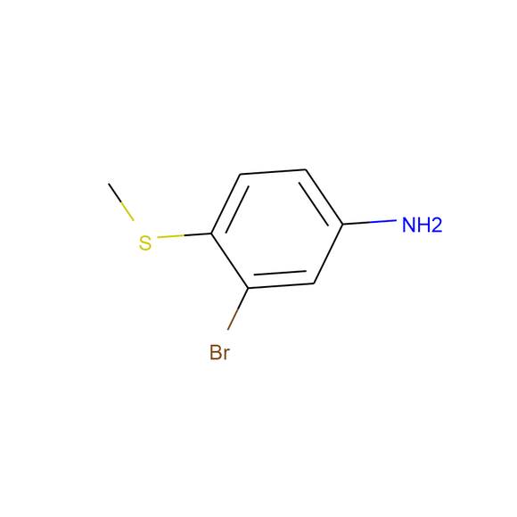 A2B Chem Benzenamine, 3-bromo-4-(methylthio)- SKU: AB19052 package