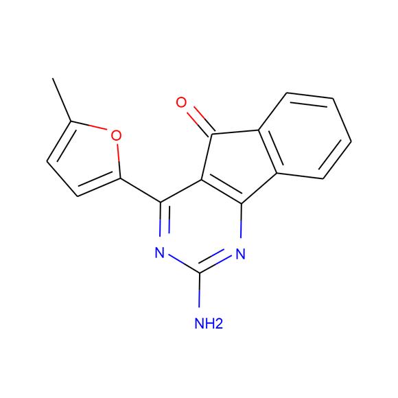 A2B Chem 2-Amino-4-(5-methylfuran-2-yl)-5H-indeno[1,2-d]pyrimidin-5-one SKU: AC73265 package