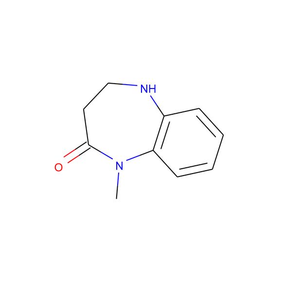 A2B Chem 4,5-dihydro-1-methyl-1H-benzo[b][1,4]diazepin-2(3H)-one SKU: AF88993 package