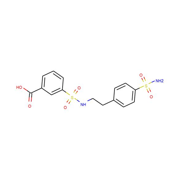 A2B Chem 3-{[2-(4-sulfamoylphenyl)ethyl]sulfamoyl}benzoic acid SKU: AI56509 package