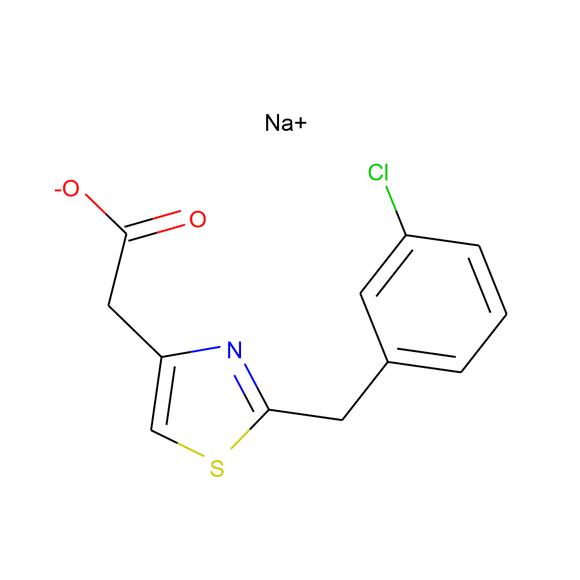 A2B Chem sodium 2-{2-[(3-chlorophenyl)methyl]-1,3-thiazol-4-yl}acetate SKU: AV28531 package
