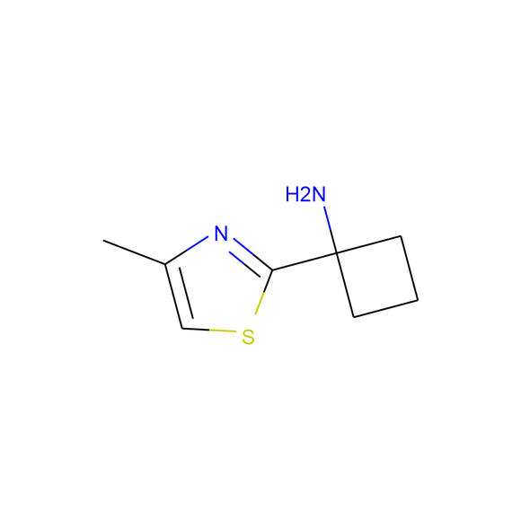 A2B Chem 1-(4-methyl-1,3-thiazol-2-yl)cyclobutan-1-amine SKU: AV57613 package