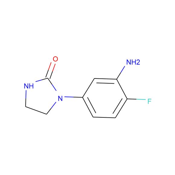 A2B Chem 1-(3-amino-4-fluorophenyl)imidazolidin-2-one SKU: AW12863 package
