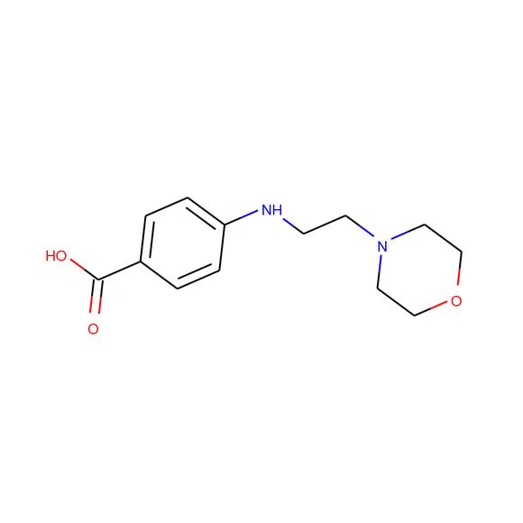 1PlusChem 4-((2-morpholinoethyl)amino)benzoic acid SKU: 1P01DI4K package