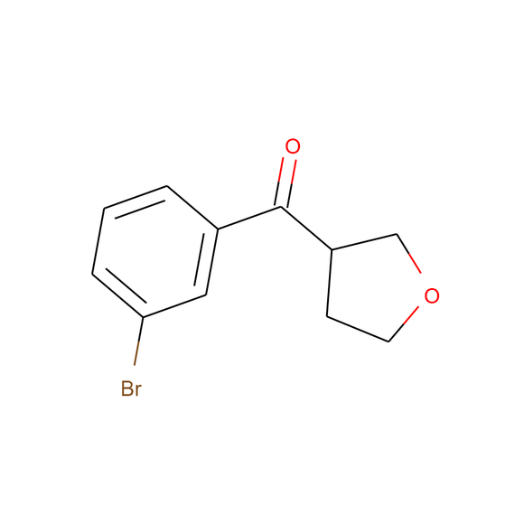 1PlusChem (3-bromophenyl)(tetrahydrofuran-3-yl)methanone SKU: 1P01BTYO package