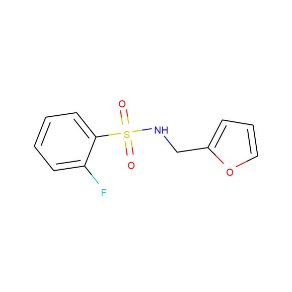 1PlusChem 2-fluoro-N-(furan-2-ylmethyl)benzene-1-sulfonamide SKU: 1P019J79 package