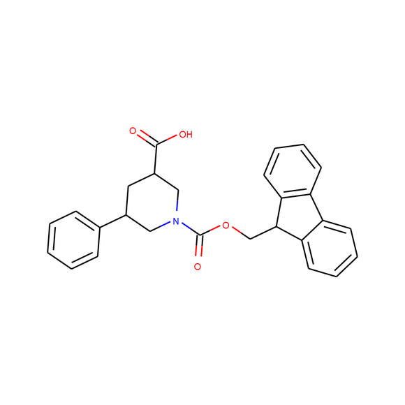 1PlusChem 1-{[(9H-fluoren-9-yl)methoxy]carbonyl}-5-phenylpiperidine-3-carboxylic acid SKU: 1P01ELHE package