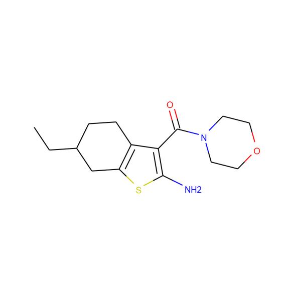1PlusChem 6-ethyl-3-(morpholin-4-ylcarbonyl)-4,5,6,7-tetrahydro-1-benzothiophen-2-amine SKU: 1P00EENS package