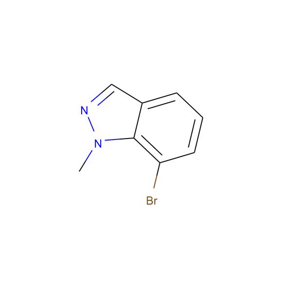 Ambeed 7-Bromo-1-methylindazole SKU: A250477 package